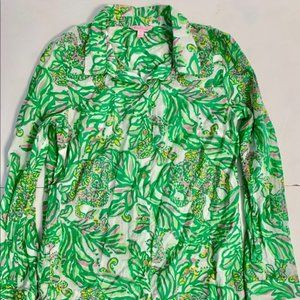 Lilly Pulitzer shirt dress beach cover up Sz L